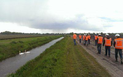 Masterstudenten van de Universiteit Twente op excursie